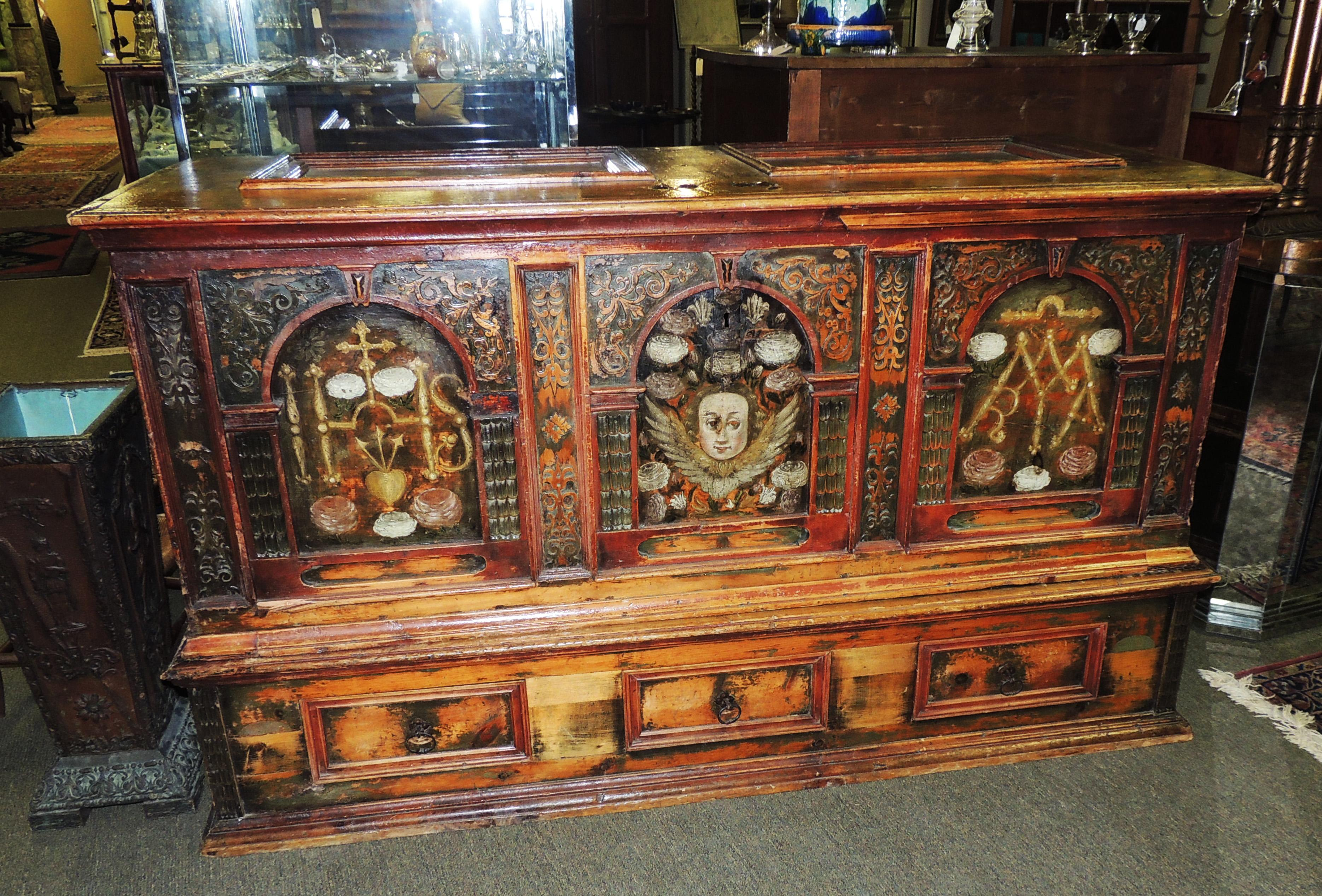 Marriage Chest On Stand. U2039